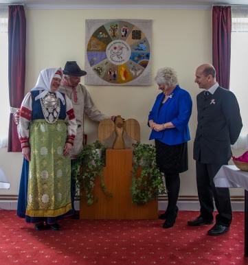 2016 március, szetu vendégek, Marina Kaljurand észt külügyminiszter és Gáll Attila polgármester a Községházán